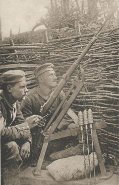 #ww1 German launching cradle for rifle grenades. Highly unpopular weapons as they tended to explode prematurely