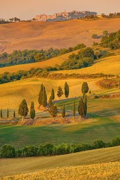 Pejzaż w Toskanii