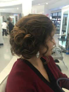 curled side updo