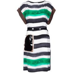 TSUMORI CHISATO striped dress ($375) ❤ liked on Polyvore