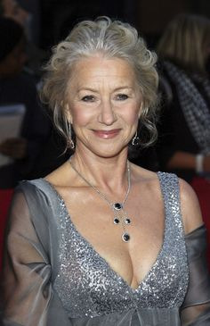 Helen Mirren, with age and character on her face welcome but uncommon among celebrities of a certain age.