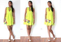 #OOTD: Yellow Green Dress - Fashion Travels ~ Wearing a Yellow Green Dress