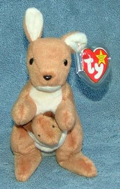 535af9ad380 Pouch the  Kangaroo is in mint condition and has 4th generation swing tag  which is. Beanie BabiesTy ...