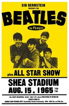 August 15, 1965 - The Beatles set a new world record for the largest attendance at a pop concert when they played in front of 55,600 fans at Shea Stadium in New York City.