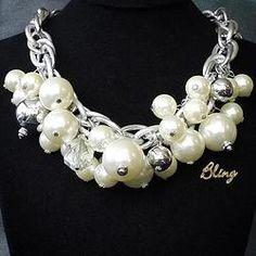 Collar de Perlas y Plata Modelo 0108 $150 www.facebook.com/BlingMx