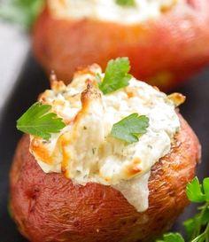Crab Stuffed Baked Potatoes | Food Recipes