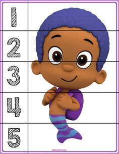 FREE! Bubble Guppies #1-5 Puzzles - Autism & Education