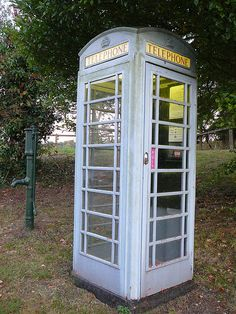 Grey Telephone Box, in Courteenhall just south of Northampton, Sept 2009 - from internet 31.1.13