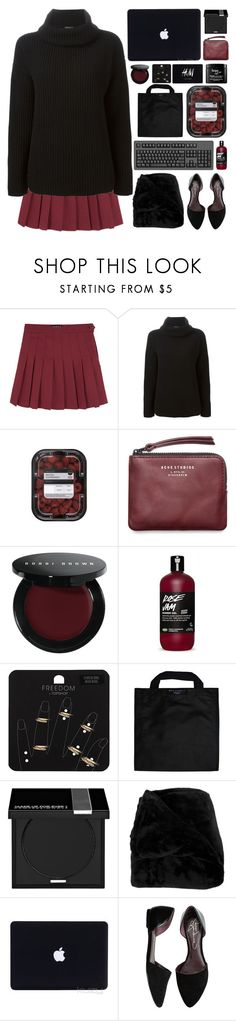 """""""she smiled at you boy"""" by acquiescence ❤ liked on Polyvore featuring Theory, Acne Studios, Bobbi Brown Cosmetics, Topshop, Black+Blum, MAKE UP FOR EVER, Woven Workz, Report, H&M and philosophy"""