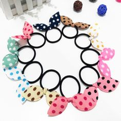 5d8fe2c49 Cuhair(tm)fashion Women Girl Color) Elastic Ponytail Holders Hair Tie  Assorted Rope Rubber Bands Accessories Rabbit Head Cloth -- For more  information, ...