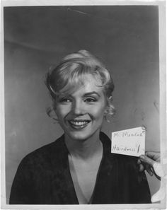 Marilyn photographed in a hair test for Let's Make Love, 1960.