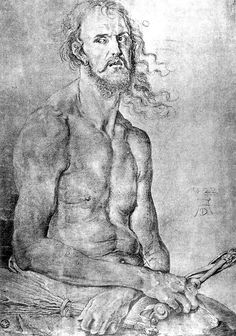 """albrecht Durer """"self portrait as the man of sorrows"""" - Art Curator & Art Adviser. I am targeting the most exceptional art! Catalog @ http://www.BusaccaGallery.com"""