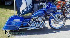 Custom Blue Harley Davidson Road Glide at Daytona Bike Week, Visit us at www. Harley Road Glide, Harley Davidson Road Glide, Harley Davidson Parts, Harley Davidson Motorcycles, Custom Choppers, Custom Motorcycles, Harley Bagger, Baggers, Hot Bikes