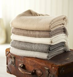 Our collection of beautiful throws and blankets, available in luxurious wools - Alpaca, Merino and pure Shetland wool - soft faux furs and velvety fabrics. Alpaca Blanket, Alpaca Throw, Alpaca Wool, Wool Blanket, Natural Brown, Interior Accessories, Scandinavian Style, Plaid, Tartan