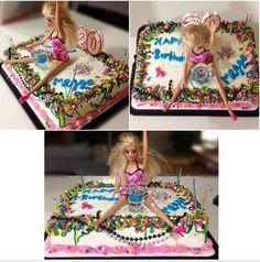 Funny Birthday cake. #drunk #barbie Beach Themed Cakes, Theme Cakes, Funny Birthday Cakes, Blush And Gold, Beach Themes, 30th, Barbie, Cupcakes, Healthy Recipes
