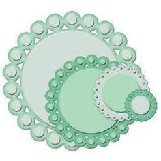 Dies découpe gaufrage cercles perlées Nestabilities Spellbinders.     Spellbinders Découpe et gaufrage pour vos faire part et cartes de scrapbooking avec les dies et classeurs.