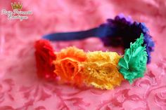Colorful Creation} Headband, Photography Prop, Shabby Chic Headband, Rainbow Headband, Colorful Headband