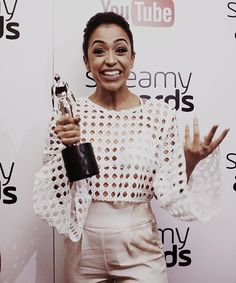 i look like the happiest raisin you've ever seen. because i am. the most genuine, intense, in shock, insane smile ive ever smiled. because of YOU. thank you for nominating, watching, supporting, encouraging, inspiring, motivating, and really thank you for winning this breakout creator streamy award with me. i am so honored, so blessed and still so shocked that it's taken me days to post and believe it really happened! and picking a bomb filter for this pic was really tough too... thank you…