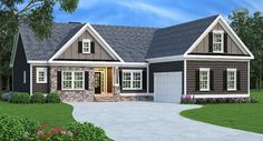 Plan 75450GB: 3 Bed Craftsman with Optional Bonus Room