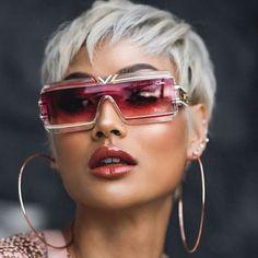 Image may contain: 1 person Image may contain: 1 person Luxury Sunglasses, Sunglasses Women, Funky Glasses, Fashion Eye Glasses, Platinum Hair, Gucci, Unisex Fashion, Cool Eyes, Eyeglasses