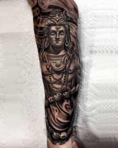 60 Shiva Tattoo Designs For Men – Hinduism Ink Ideas - Tattoo Krishna Tattoo, Kali Tattoo, Shiva Tattoo Design, Forearm Tattoo Design, Buddha Tattoos, Hindu Tattoos, Trendy Tattoos, Unique Tattoos, Tattoos For Guys