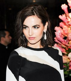 Camilla Belle hair and makeup