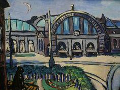 Max Beckmann (Leipzig 1884 - New York Frankfurter Hauptbahnhof Max Beckmann, Monuments, Städel Museum, Ludwig Meidner, Expressionist Artists, Vintage Artwork, Art Moderne, Sculpture, Famous Artists
