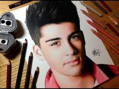 Drawing Zayn Malik - Colored Pencil Time-lapse Sketch by Heather Rooney on YouTube
