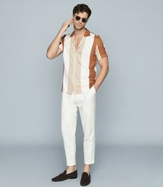 Mens Spring Fashion Outfits, Stylish Mens Outfits, Formal Men Outfit, Indian Men Fashion, Menswear, Men Casual, Tailored Shorts, Polo, Stripe Pattern