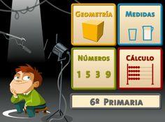 """""""Juegos, Números… ¡Acción!"""", de Educapeques, ofrece para 6º Nivel de Educación Primaria, juegos muy bien diseñados en cuanto a grafismo y muy útiles didácticamente. A los niños les gustan y sobre todo con el escenario de película. Recorren casi todo el catálogo del currículo de matemáticas: números, operaciones, geometría, medidas."""