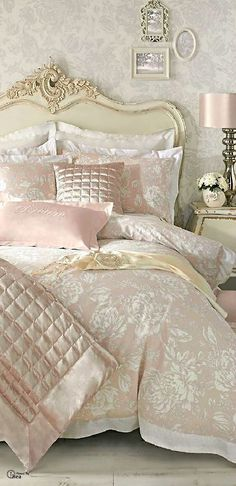 Romantic French bedroom | queenbee       ᘡղbᘠ