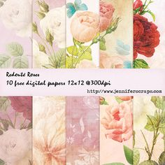 Freebie of the day – rose theme blog hop with Free Pretty Things for You part 1