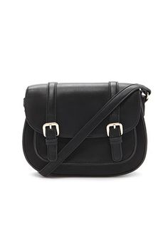 Faux Leather Buckled Crossbody | Forever 21 - 1000181734