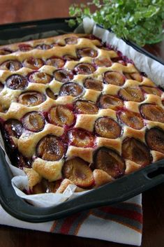 Polish plum cake - placek ze sliwkami - is another everyday dessert, especially in summer when plums are plentiful. But canned plums may be used in a pinch. Polish Desserts, Polish Recipes, Healthy Desserts, Delicious Desserts, Yummy Food, Baking Recipes, Dessert Recipes, Czech Recipes, Cakepops