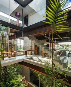 Moderno Jardin interior