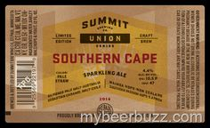 mybeerbuzz.com - Bringing Good Beers & Good People Together...: Summit Brewing Union Series - Southern Cape