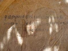 Oldest Spanish inscriptionat El Morro, 1605 -- El Morro National Monument, New Mexico