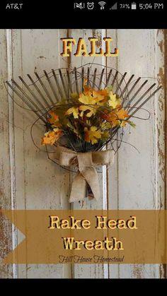 Autumn Wreath Diy Fall Door Wreaths Country Holiday