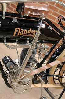 OldMotoDude: 1912 Flanders on display at the St. Old Bicycle, Old Bikes, Dirt Bikes, Antique Motorcycles, American Motorcycles, Tron Bike, Motorcycle Museum, Mechanical Art, Hot Rollers