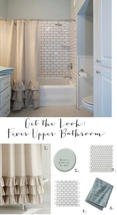 Do you love Joanna Gaines Fixer Upper farmhouse bathroom?  I am sharing all the details how you can get the same look in your home