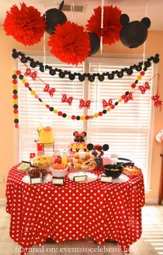 Minnie Mouse Party Food Display Birthday Decorations Theme