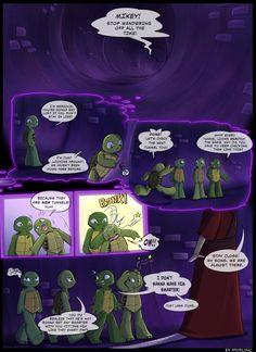 TMNT - Never give up hope (page by Myrling on DeviantArt Ninja Turtles Art, Teenage Mutant Ninja Turtles, Baby Turtles, Tmnt Human, Turtle Tots, Tmnt Mikey, Tmnt Comics, Tmnt 2012, Short Comics