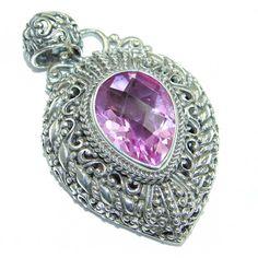 Luxury Design Pink genuine Kunzite .925 Sterling Silver handmade pendant Jewelry Design, Unique Jewelry, Silver Pendants, Handmade Silver, 1 Piece, Pendant Jewelry, Heart Ring, Sterling Silver, Luxury