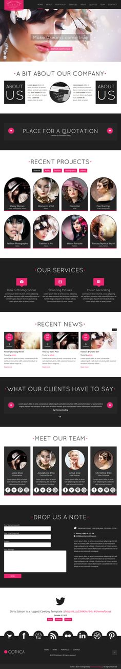 Gothica A one Page WordPress Theme in Goth Style by Experthemes on deviantART