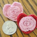 free crochet pattern for heart pins (or barrettes) from #cre8tioncrochet