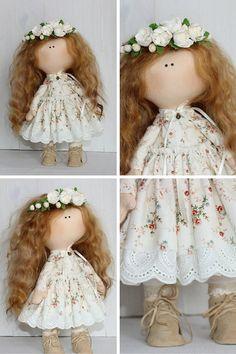Tilda doll Handmade doll Fabric doll white by AnnKirillartPlace