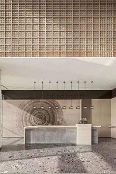 Reception Desk Design, Lobby Reception, Reception Counter, Design Hotel, House Design, Matrix Design, Feature Wall Design, Office Lobby, Counter Design