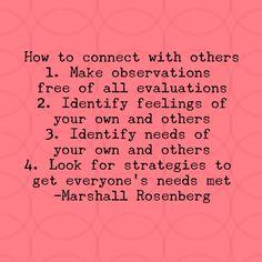 Nonviolent communication steps