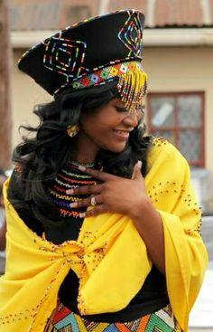 South african zulu bride