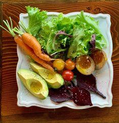 Breakfast Salad with Tamari-Sauced Eggs